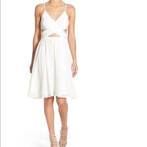 Leith strap wrap mini dress